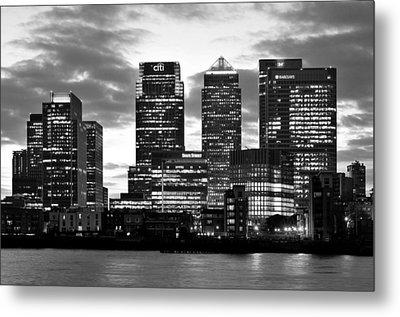 London Canary Wharf Monochrome Metal Print