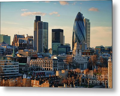 Metal Print featuring the photograph London City Of Contrasts by Lois Bryan