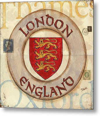 London Coat Of Arms Metal Print by Debbie DeWitt