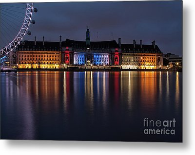 London County Hall Metal Print by Nichola Denny
