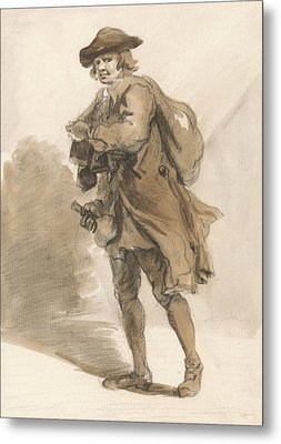London Cries - A Man With A Bottle Metal Print by Paul Sandby