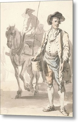 London Cries - A Tinker And His Wife Metal Print by Paul Sandby