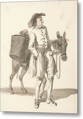 London Cries - Boy With A Donkey Metal Print by Paul Sandby