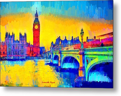London Downtown 2 - Da Metal Print