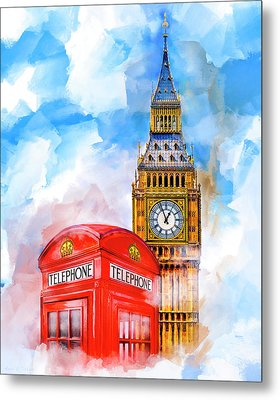 Metal Print featuring the mixed media London Dreaming by Mark E Tisdale