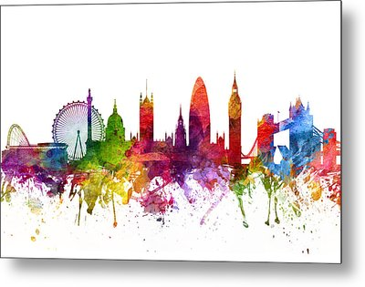 London England Cityscape 06 Metal Print by Aged Pixel