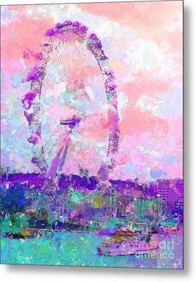 London Eye Metal Print