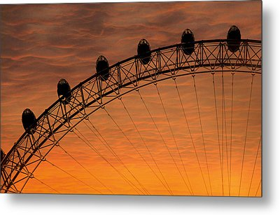 London Eye Sunset Metal Print by Martin Newman