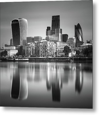 London Financial District Metal Print by Ivo Kerssemakers