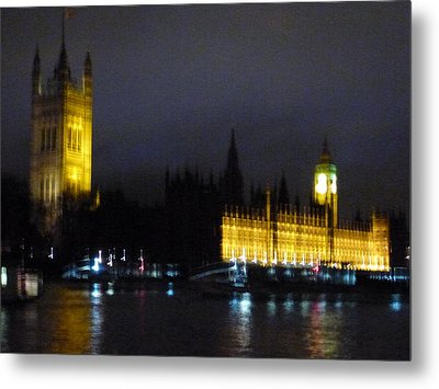 Metal Print featuring the photograph London Late Night by Christin Brodie