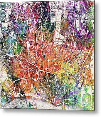 London Map  Metal Print by Mark Ashkenazi