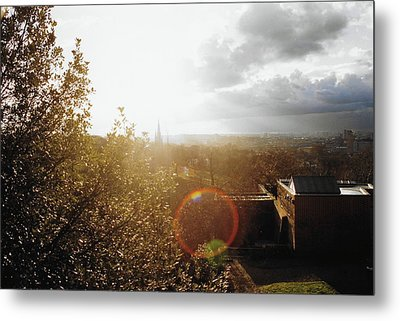 London Partialy Cloudy With A Chance Of Flare Metal Print by Patrick Murphy