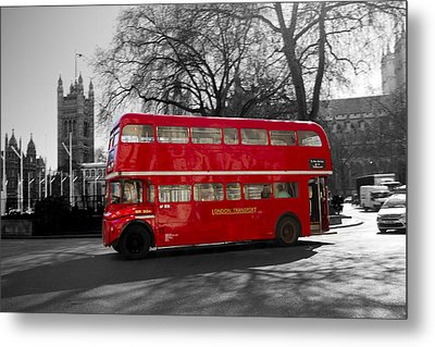 London Red Bus Metal Print