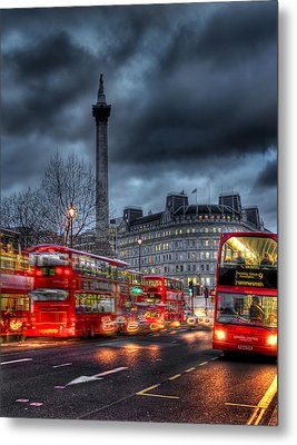 London Red Buses Metal Print by Jasna Buncic