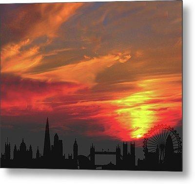 Sunset London Metal Print