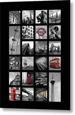London Squares Metal Print by Mark Rogan