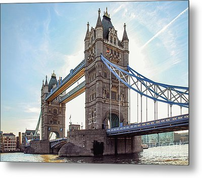 Metal Print featuring the photograph London - The Majestic Tower Bridge by Hannes Cmarits