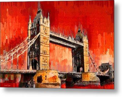 London Tower Bridge 12 - Da Metal Print