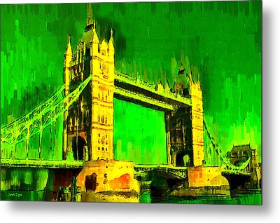 London Tower Bridge 17 - Da Metal Print