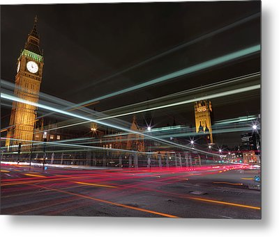 London Traffic Metal Print by Mark A Paulda