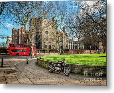 Metal Print featuring the photograph London Transport by Adrian Evans