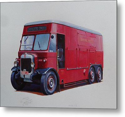 Metal Print featuring the painting London Transport Wrecker. by Mike Jeffries