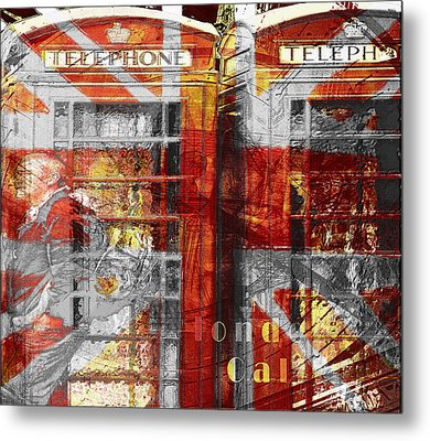 Metal Print featuring the digital art London's Calling  by Fine Art By Andrew David