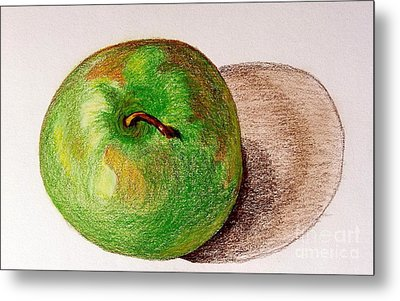 Lone Apple Metal Print by Sheron Petrie