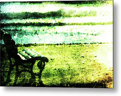 Lone Bench Metal Print by Andrea Barbieri