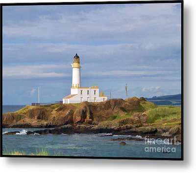 Metal Print featuring the photograph Lone Lighthouse In Scotland by Roberta Byram