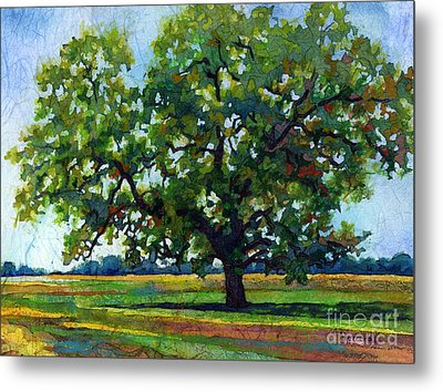 Metal Print featuring the painting Lone Oak by Hailey E Herrera