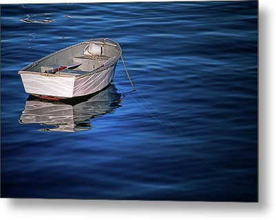 Lone Rowboat Metal Print