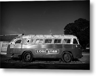 Lone Star Bus 1 Metal Print by John Gusky