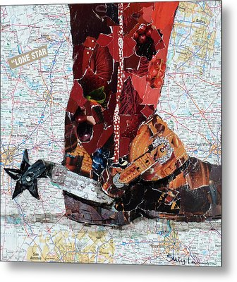 Lone Star Spur Metal Print by Suzy Pal Powell