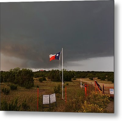 Lone Star Supercell Metal Print