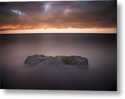 Metal Print featuring the photograph Lone Stone At Sunrise by Adam Romanowicz