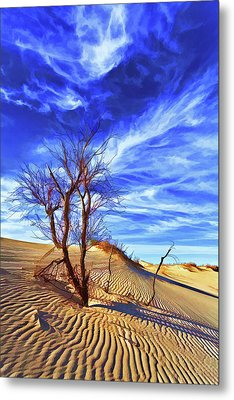 Lone Tree At Sandhills Metal Print