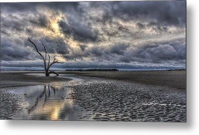 Lone Tree Under Moody Skies Metal Print