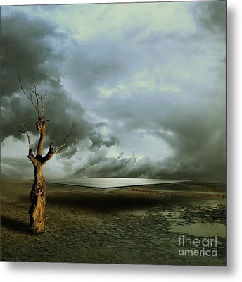 Lonely Death Metal Print