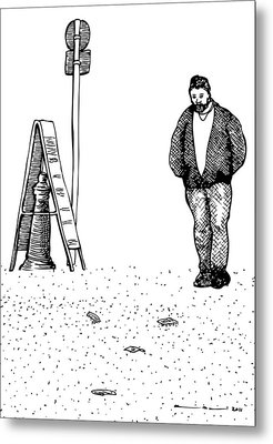 Lonely Man Metal Print by Karl Addison