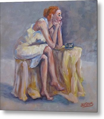 Lonely Mornings Metal Print by Barbara O'Toole