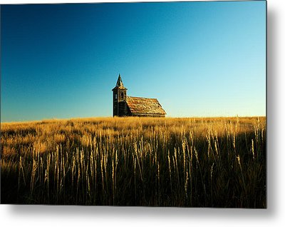 Lonely Old Church Metal Print