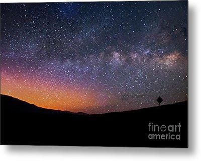 Lonely Road Death Valley Milky Way Galaxy Metal Print