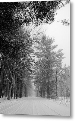 Lonely Road Metal Print by Edward Myers