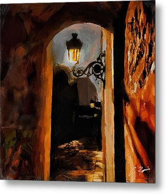 Lonely Street Metal Print