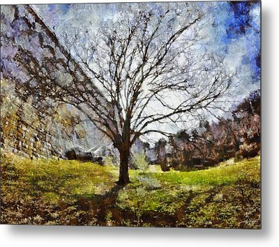 Metal Print featuring the painting Lonely Tree by Derek Gedney
