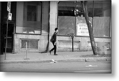 Metal Print featuring the photograph Lonely Urban Walk by Valentino Visentini
