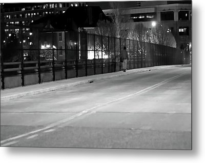 Lonely Walk Metal Print