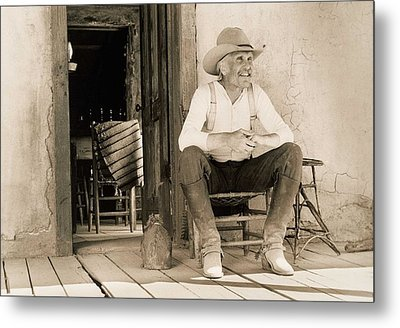 Lonesome Dove Gus On Porch Signed Print Metal Print
