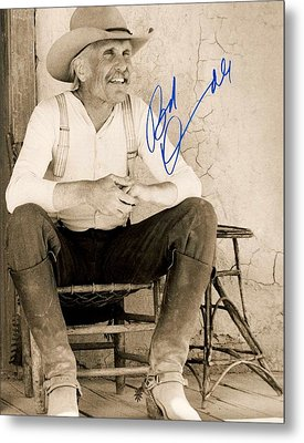 Lonesome Dove Gus Signed Print Metal Print by Peter Nowell